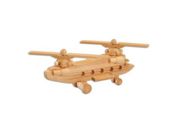 Dřevěná hračka-vrtulník D101