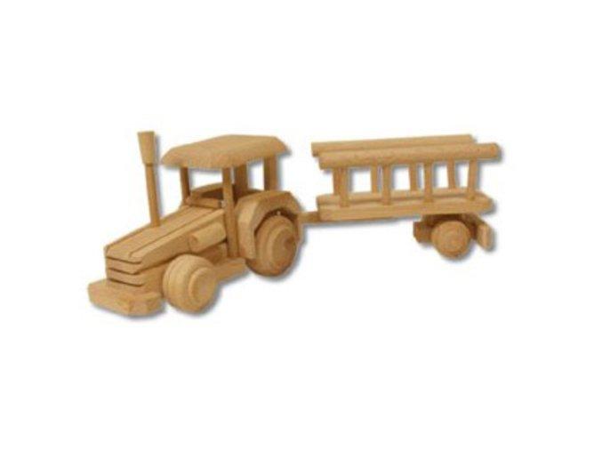 Dřevěná hračka-Traktor s valníkem D102