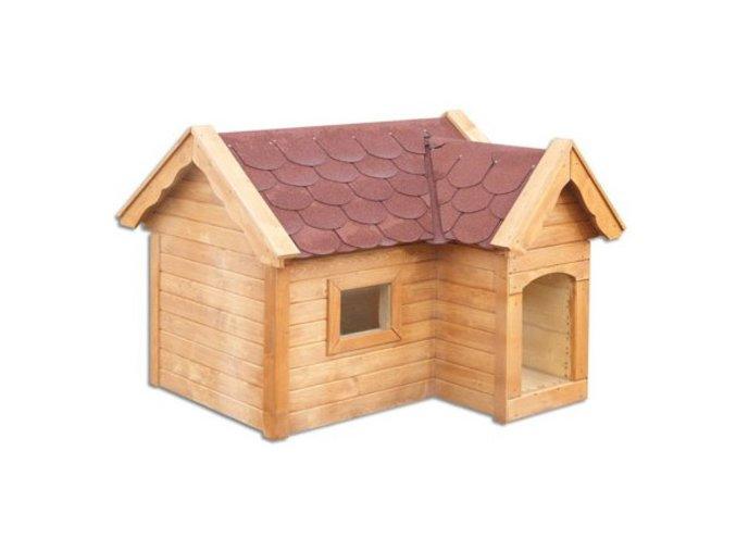 Bouda pro psa dřevěná z borovicového dřeva MASIV MO140