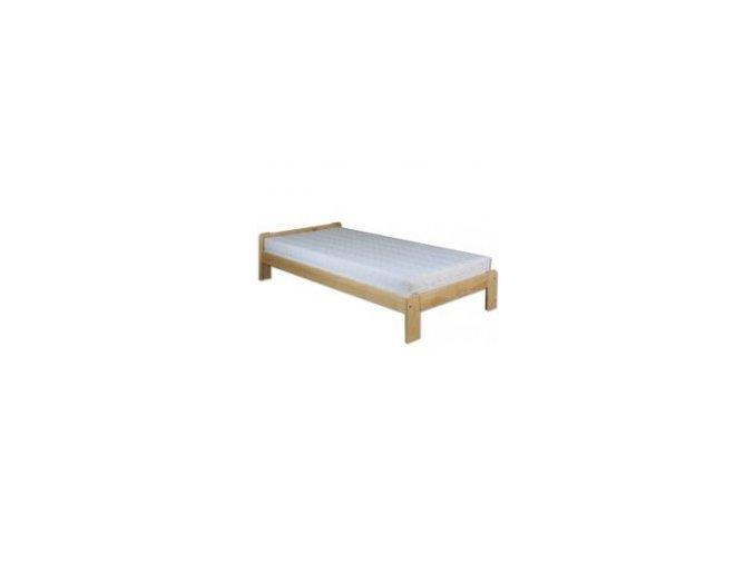 Masivní dřevěná postel -jednolůžko BM123 borovice masiv 100x200 cm - přirodní