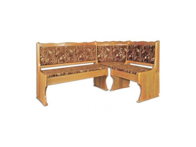 Dřevěná jídelní rohová lavice MASIV BM111 z borovice