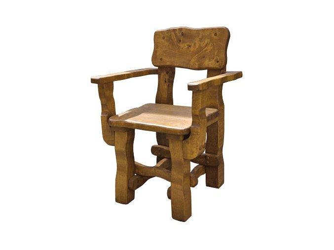 Zahradní židle z masivního olšového dřeva, lakovaná 61x56x86cm BRUNAT