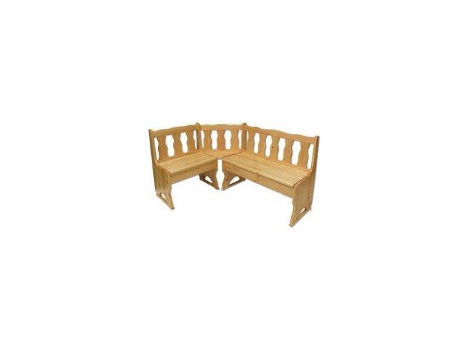 Dřevěná jídelní rohová lavice MASIV BM101 z borovice