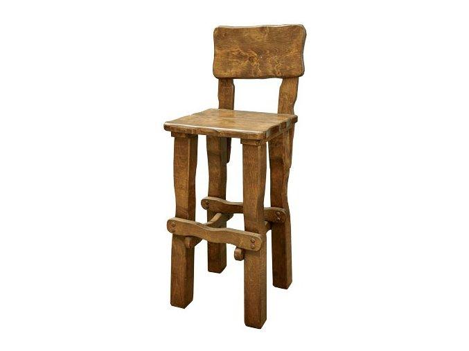 Zahradní židle z masivního olšového dřeva, lakovaná 45x54x125cm BRUNAT