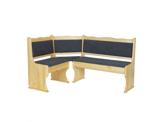 Dřevěná jídelní rohová lavice MASIV BM107 z borovice