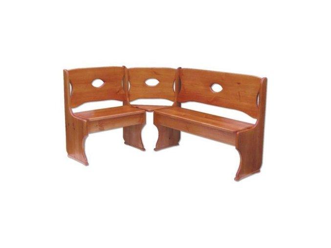 Dřevěná jídelní rohová lavice MASIV BM103 z borovice