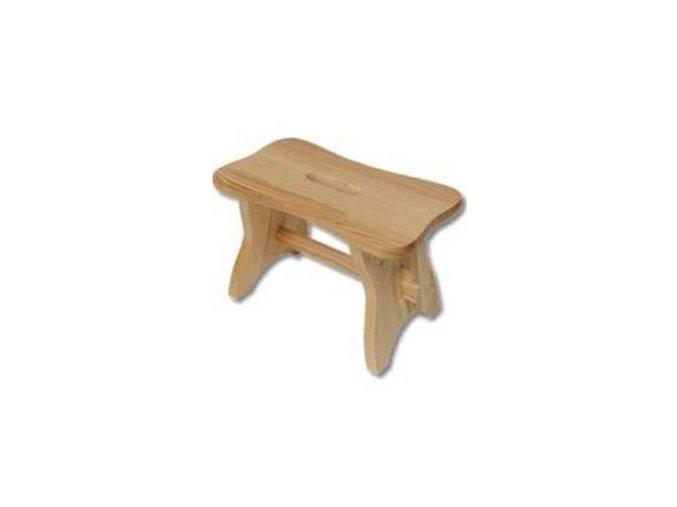 Dřevěný taburet BM256 borovice masiv