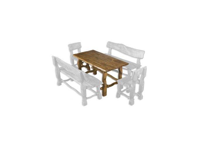 Zahradní stůl z masivního olšového dřeva MO101 BRUNAT