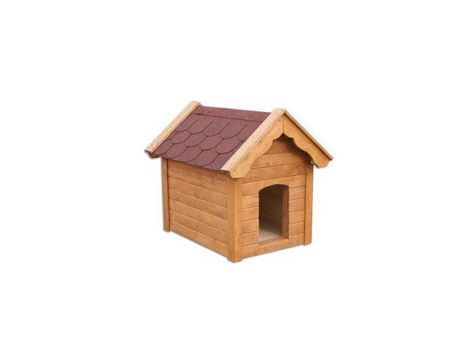 Bouda pro psa dřevěná z borovicového dřeva MASIV MO143