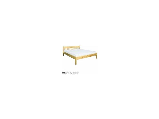 Dřevěná masivní postel 140x200 cm masiv BM116 z borovice