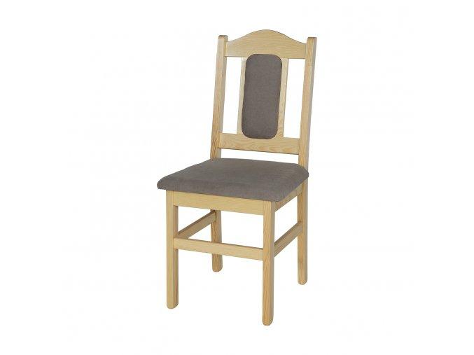Dřevěná jídelní židle BM102 s polstrováním borovice masiv