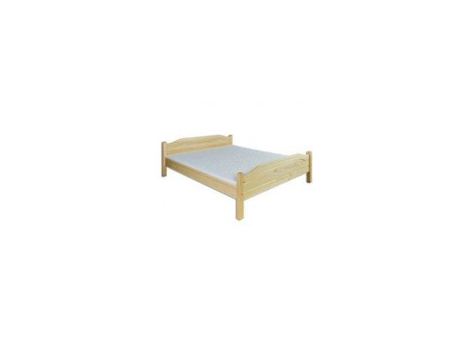 Dřevěná masivní postel 160x200 cm MASIV101 borovice masiv-při