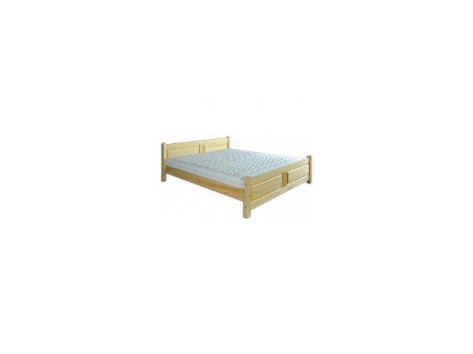 Dřevěná masivní postel 160x200 cm MASIV 115 borovice masiv-přirodní