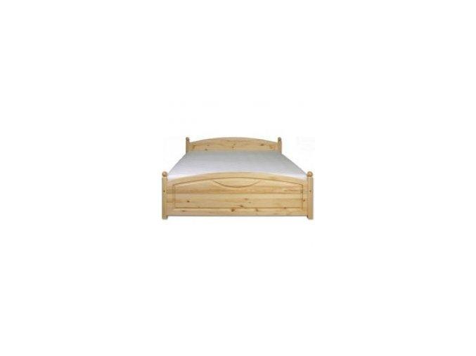 Dřevěná masivní postel 160x200 cm MASIV 103 borovice masiv-přirodní