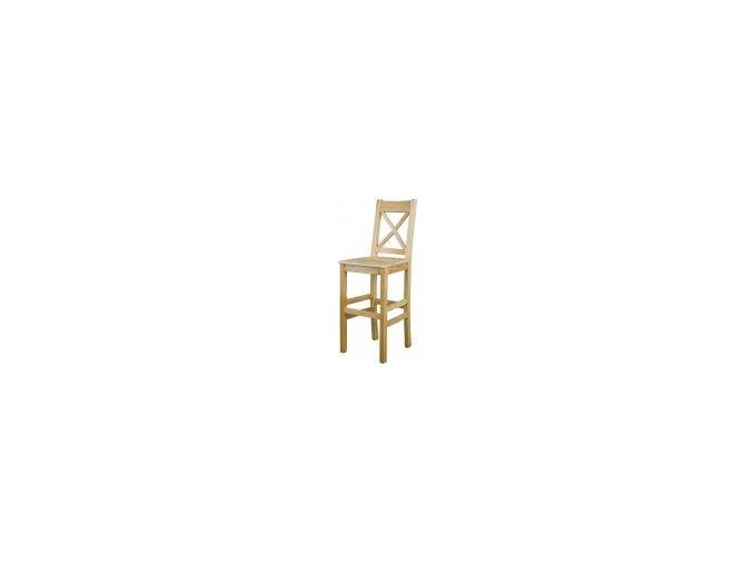 Dřevěná jídelní židle BM117 borovice masiv