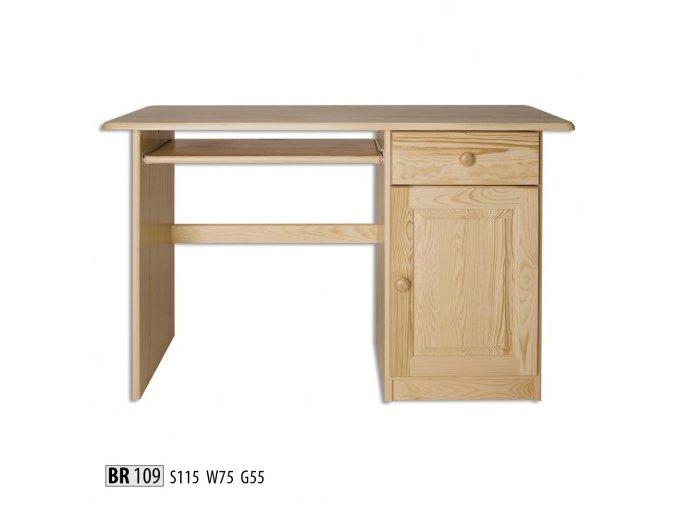 Psací stůl MASIV 109 z borovice
