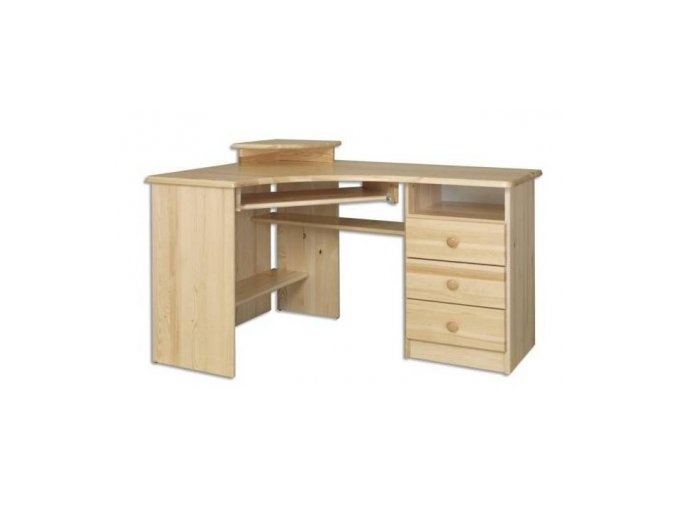 Rohový psací stůl MASIV 107 z borovice