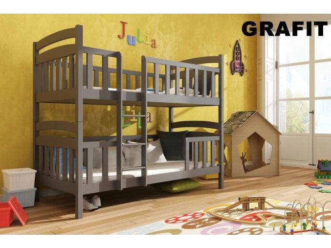 Dřevěná postel Franklin 80x200 cm z borovice