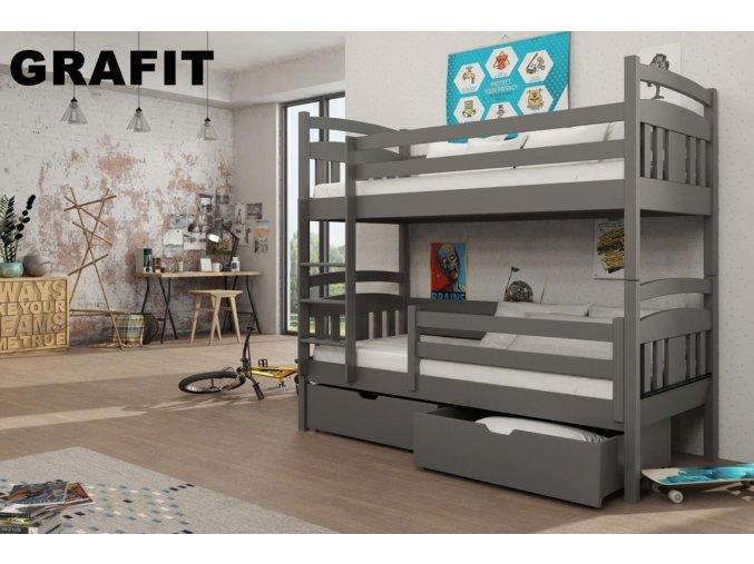 Dřevěná postel Hugo 80x200 cm z borovice