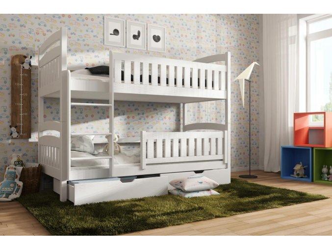 Dřevěná postel Ignac 80x200 cm z borovice