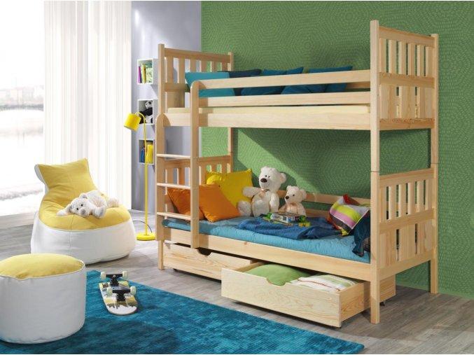 Dřevěná postel Lena 80x200 cm z borovice