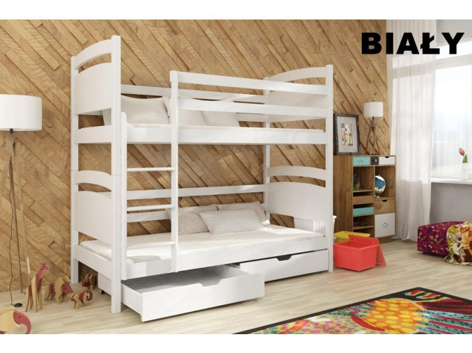 Dřevěná postel Nikol 80x200 cm z borovice