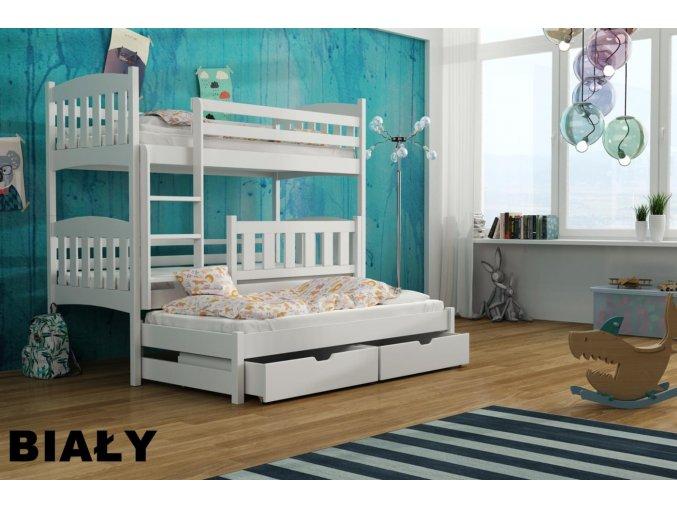 Dřevěná postel Hanka 80x200 cm z borovice