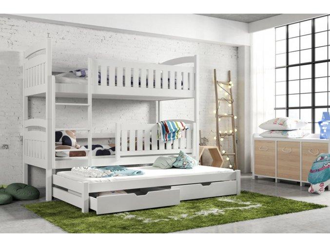 Dřevěná postel Blanka 80x200 cm z borovice