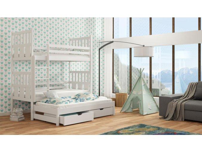 Dřevěná postel Janek 80x200 cm z borovice