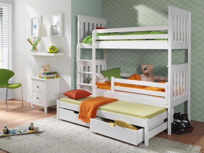 Dřevěná postel Jarek 80x200 cm z borovice