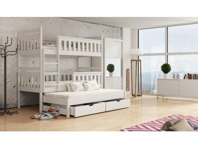 Dřevěná postel Kors 80x200 cm z borovice