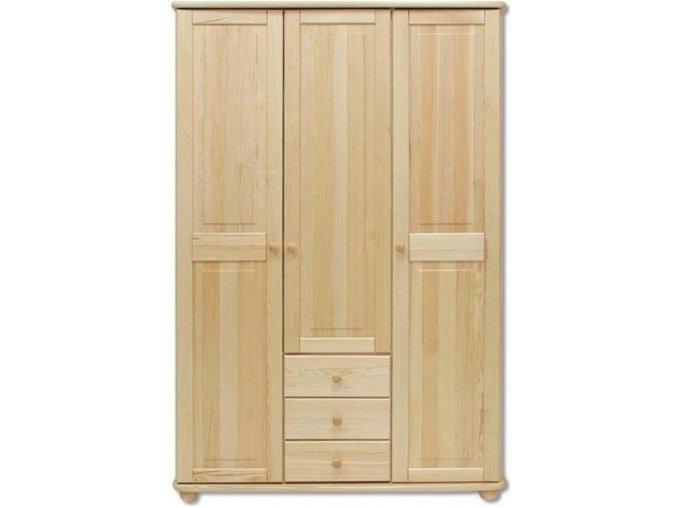 Dřevěná šatní skřín  MASIV 101 z borovice