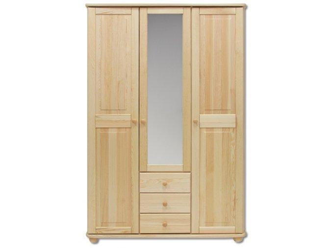 Dřevěná šatní  skřín se zrcadlem MASIV 100 z borovice