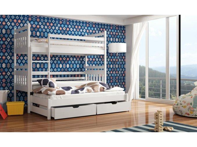 Dřevěná postel Seweryn 80x200 cm z borovice