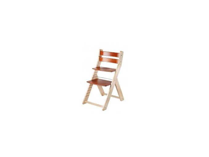 Rostoucí židle SANDY -002 natur/třešeň s ergonomickým sedákem
