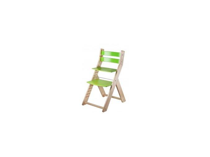 Rostoucí židle SANDY -M02 natur/zelená s ergonomickým sedákem