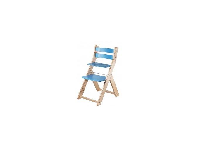 Rostoucí židle SANDY -M03 natur/modrá s ergonomickým sedákem