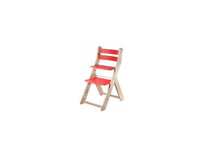 Rostoucí židle SANDY -M04 natur/červená s ergonomickým sedákem
