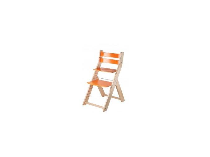 Rostoucí židle SANDY -M05 natur/oranžová s ergonomickým sedákem