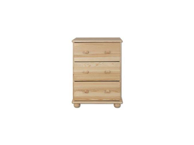 Dřevěná komoda 3 zásuvky masiv 107 borovice