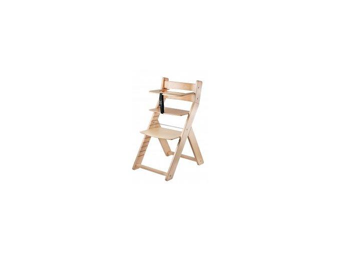 Rostoucí židle Luca -001 natur lak s ergonomickým sedákem