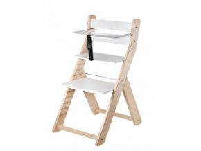 Rostoucí židle Luca -L07 natur lak/bílá s ergonomickým sedákem