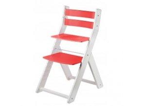 Rostoucí židle SANDY KOMBI -M04 bílá/červená s ergonomickým sedákem