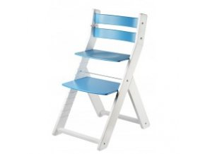 Rostoucí židle SANDY KOMBI -M03 bílá/modrá s ergonomickým sedákem