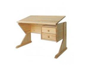 Dětský rostoucí psací stůl MASIV 116 z borovice