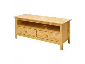 Televizní stolek Torino 2 zásuvky borovice masiv