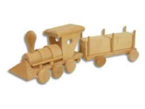 Dřevěná hračka-vlak s vagonem D103