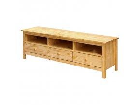 Televizní stolek Torino 3 zásuvky borovice masiv
