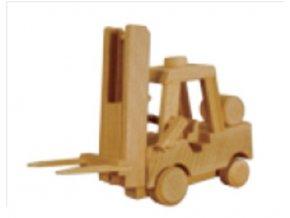 Dřevěná hračka -vysokozdvižný vozík D114