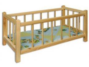 Dřevěná postýlka pro panenky D265